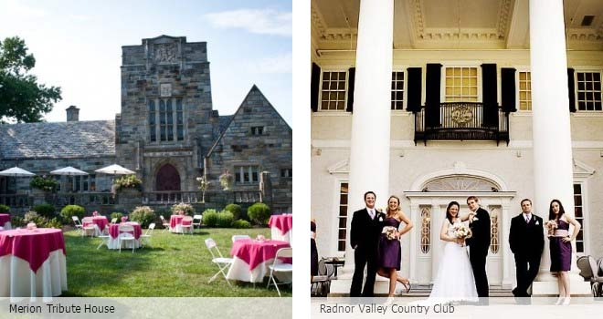 Partyspace Philadelphia wedding venue Merion Tribute House and Radnor Valley Country Club