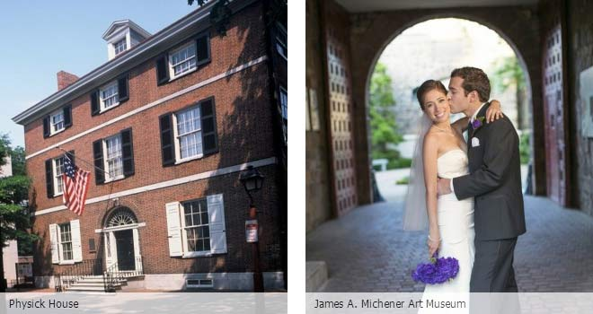 Partyspace Philadelphia wedding venue Physick House and James A. Michener Art Museum