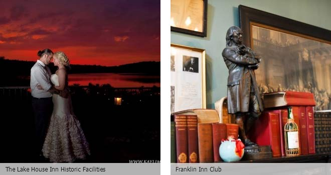 Partyspace Philadelphia wedding venue The Lake House Inn Historic Facilities and Franklin Inn Club