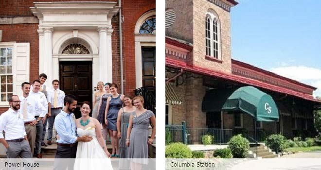 Partyspace Philadelphia wedding venue Powel House and Columbia Station