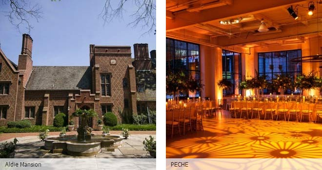 Partyspace Philadelphia wedding venue Aldie Mansion and PECHE