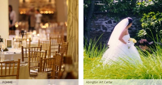 Partyspace Philadelphia wedding venue POMME and Abington Art Center