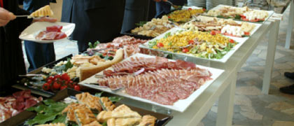dinner buffet food station cold cuts hors d'ouvres kosher catering