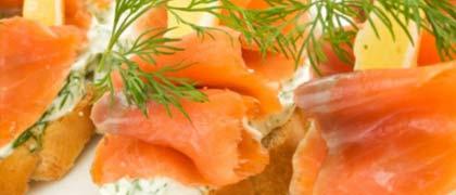 Kosher buffet dinner package sample menu smoked salmon catering