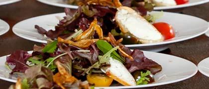 seated dinner kosher catering sample menu salad